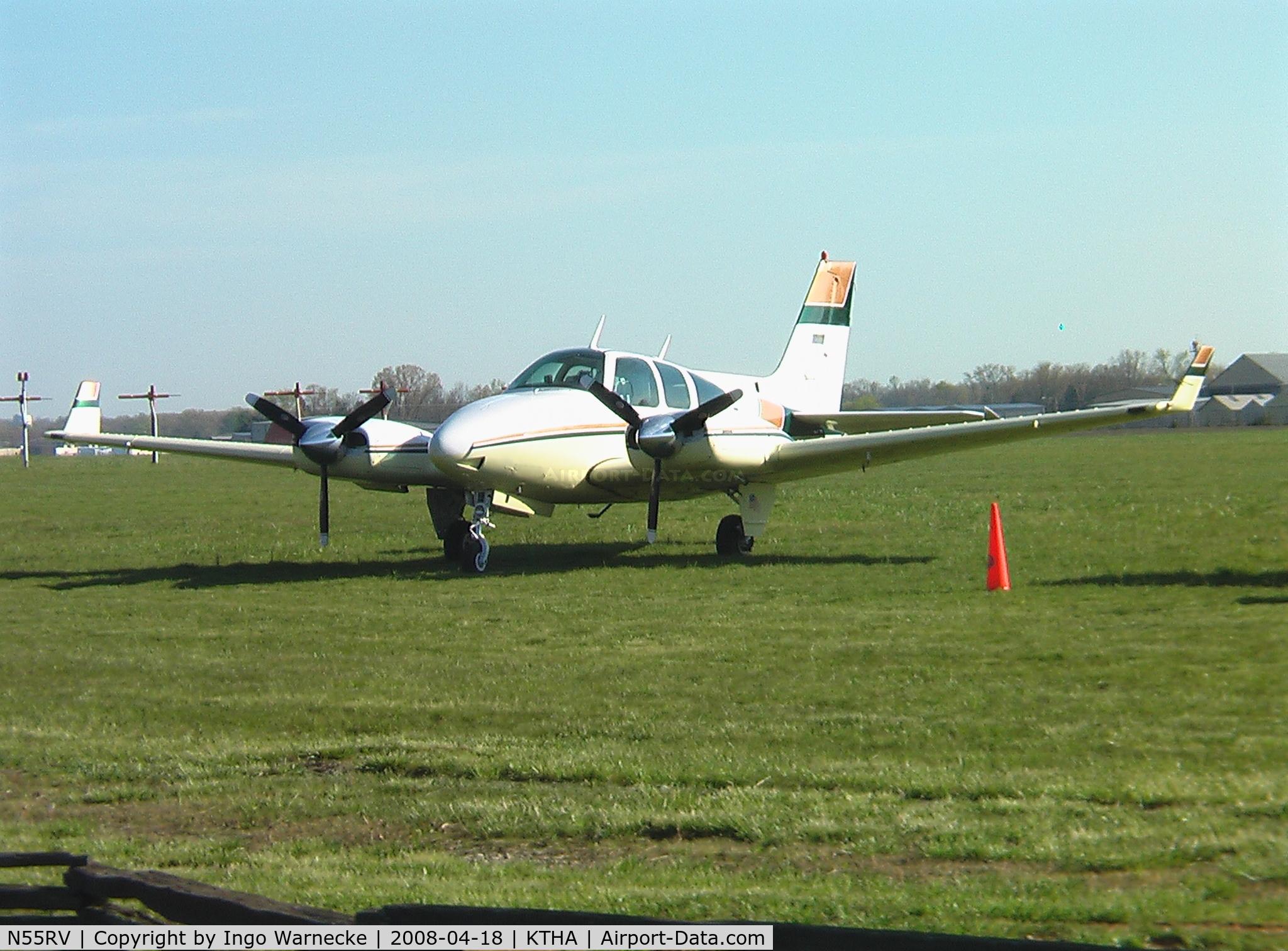 N55RV, 1975 Beech 95-B55 (T42A) C/N TC-1828, Beech 95-B55 Baron at Beechcraft Heritage Museum, Tullahoma Regional Airport
