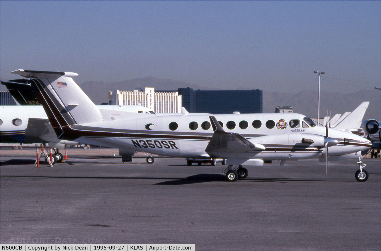 N600CB, 1991 Beech B300 C/N FL-38, KLAS (Currently registered N600CB but seen as N350SR)