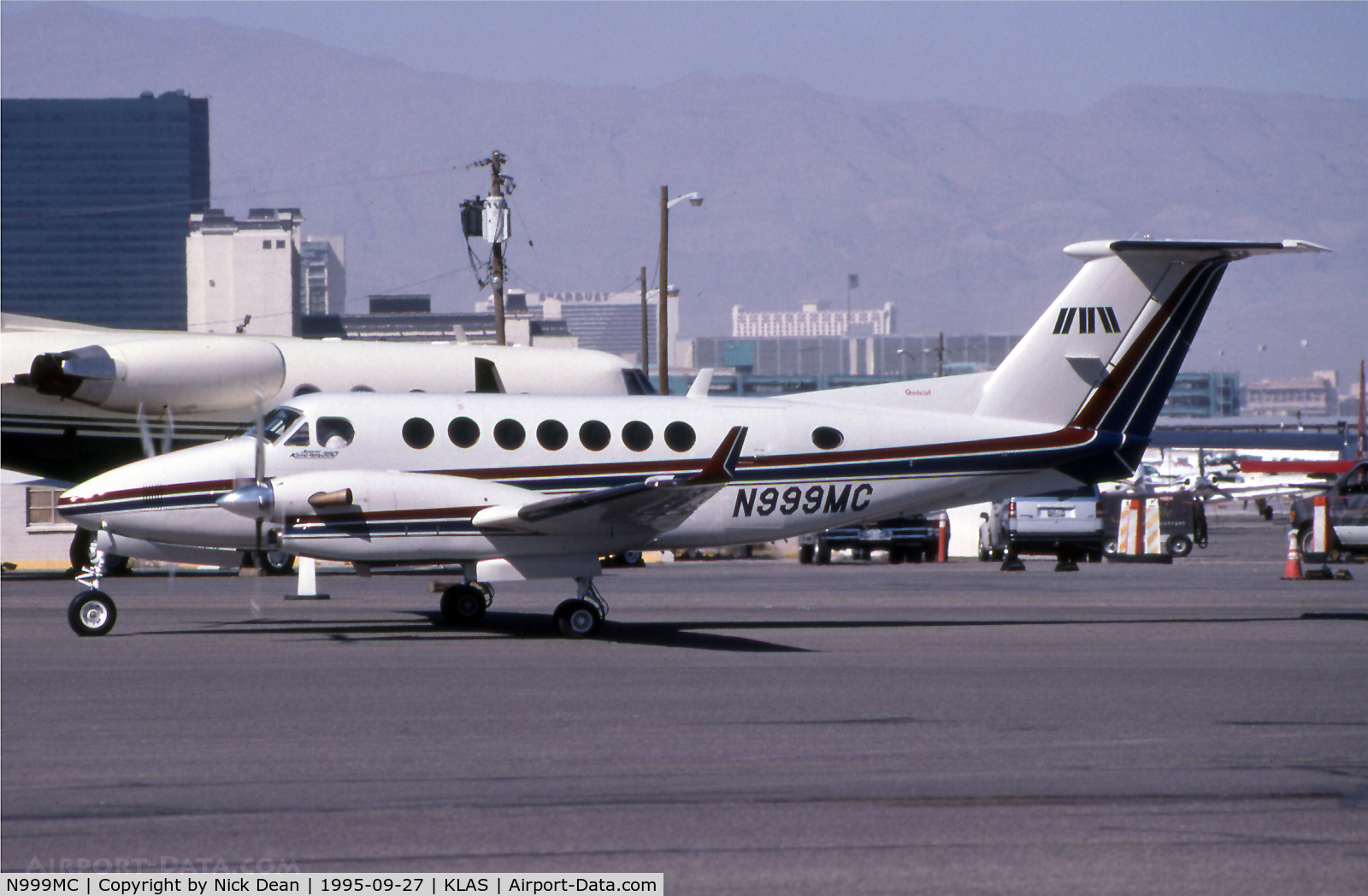 N999MC, 1991 Beechcraft King Air 350 C/N FL-65, KLAS (Currently N999MG)