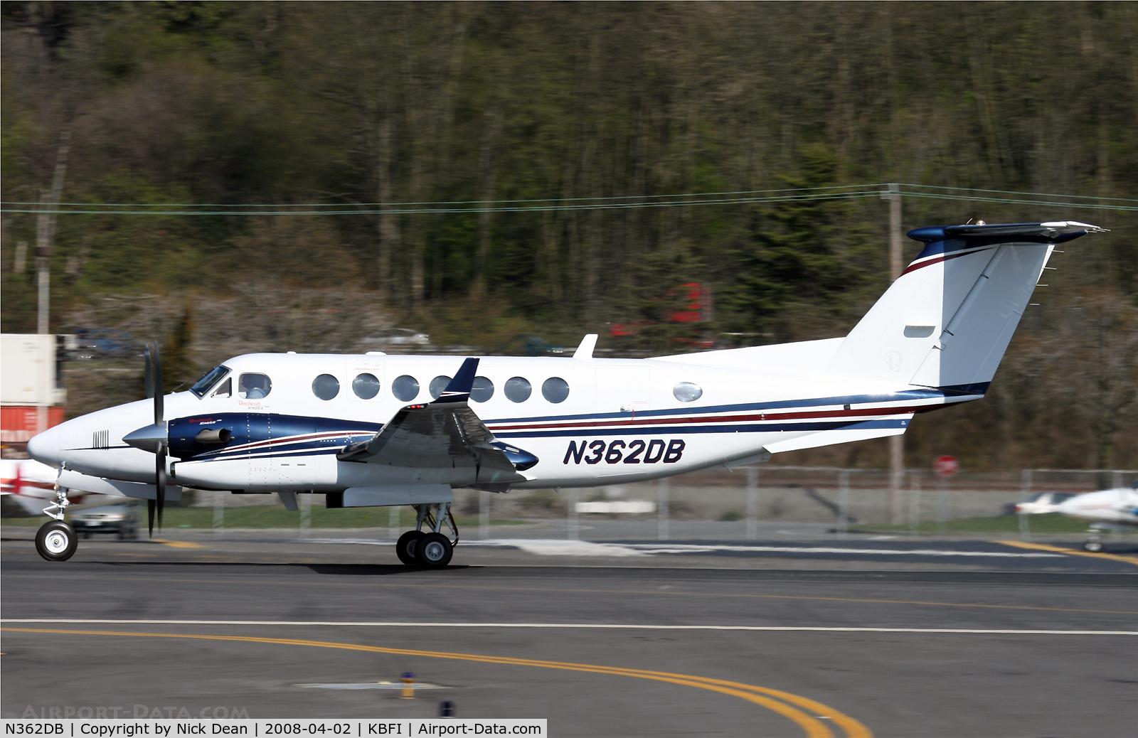N362DB, 2007 Hawker Beechcraft 350 King Air (B300) C/N FL-571, KBFI
