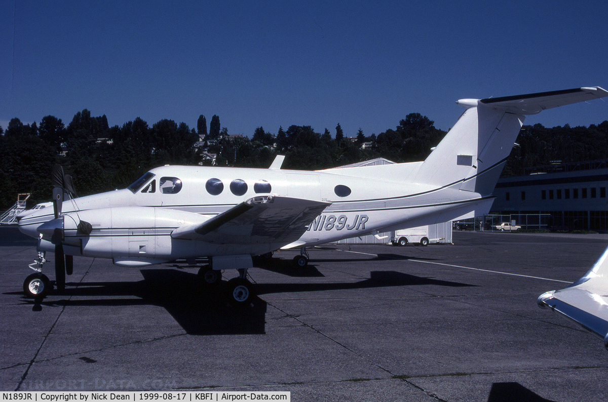 N189JR, Beech F90 King Air C/N LA-61, KBFI