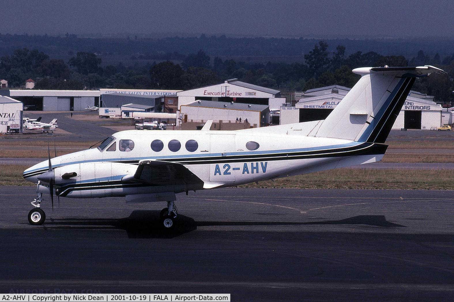 A2-AHV, Beech F90 King Air C/N LA-212, FALA