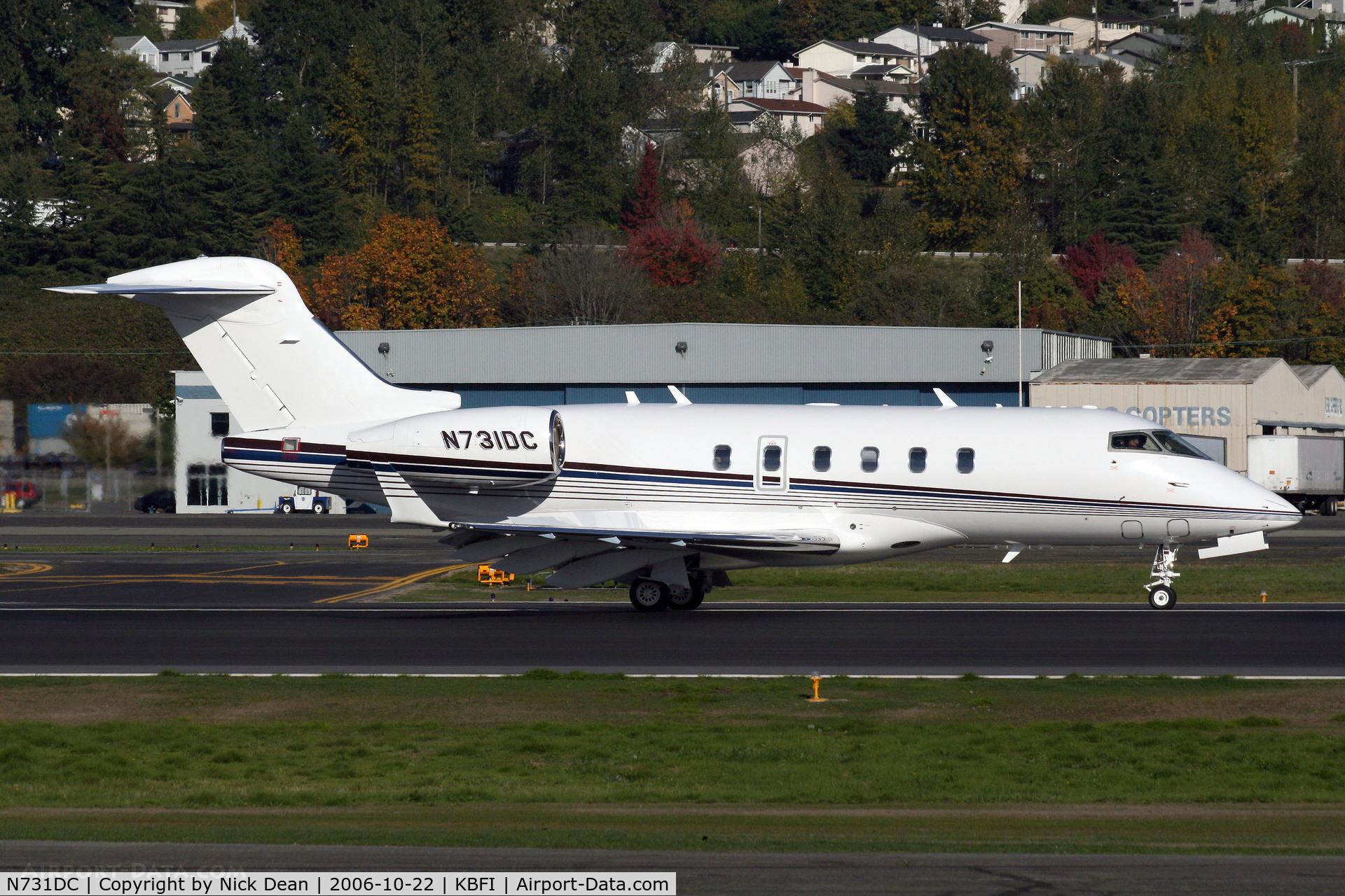 N731DC, 2005 Bombardier Challenger 300 (BD-100-1A10) C/N 20073, KBFI