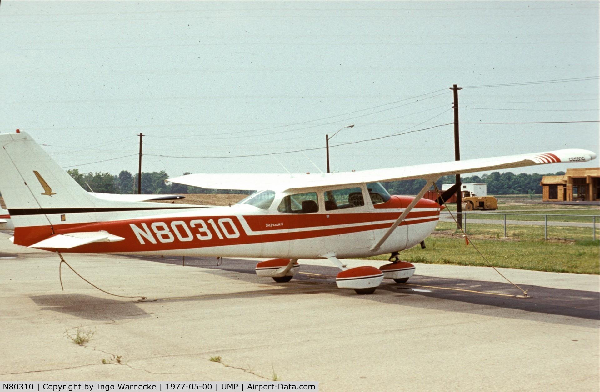 N80310, 1975 Cessna 172M Skyhawk C/N 17266512, Cessna 172M Skyhawk II at Indianapolis Metropolitan Airport