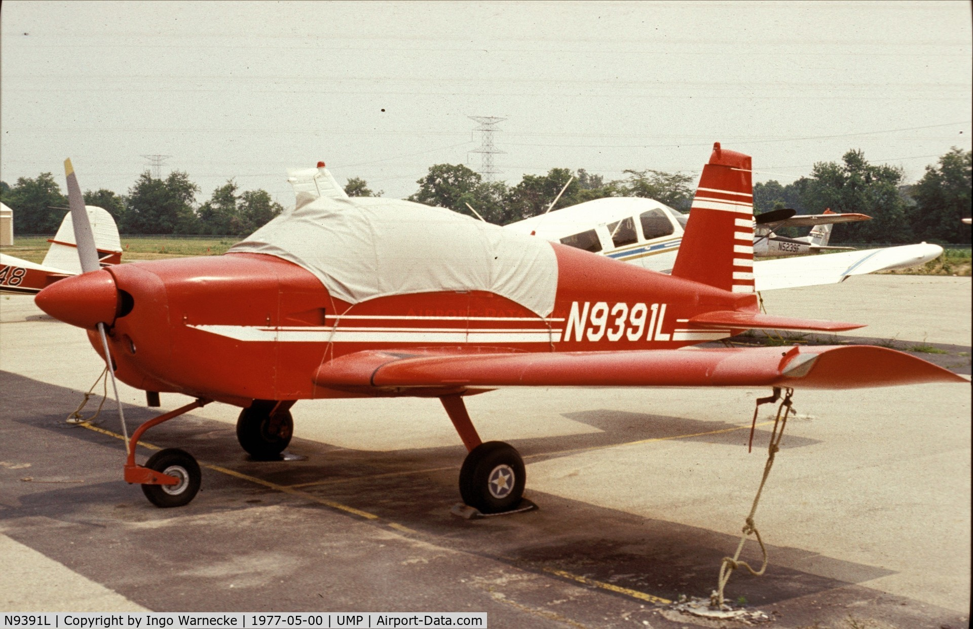 N9391L, 1971 American Aviation AA-1A Trainer C/N AA1A-0091, American Aviation AA-1A at Indianapolis Metropolitan Airport