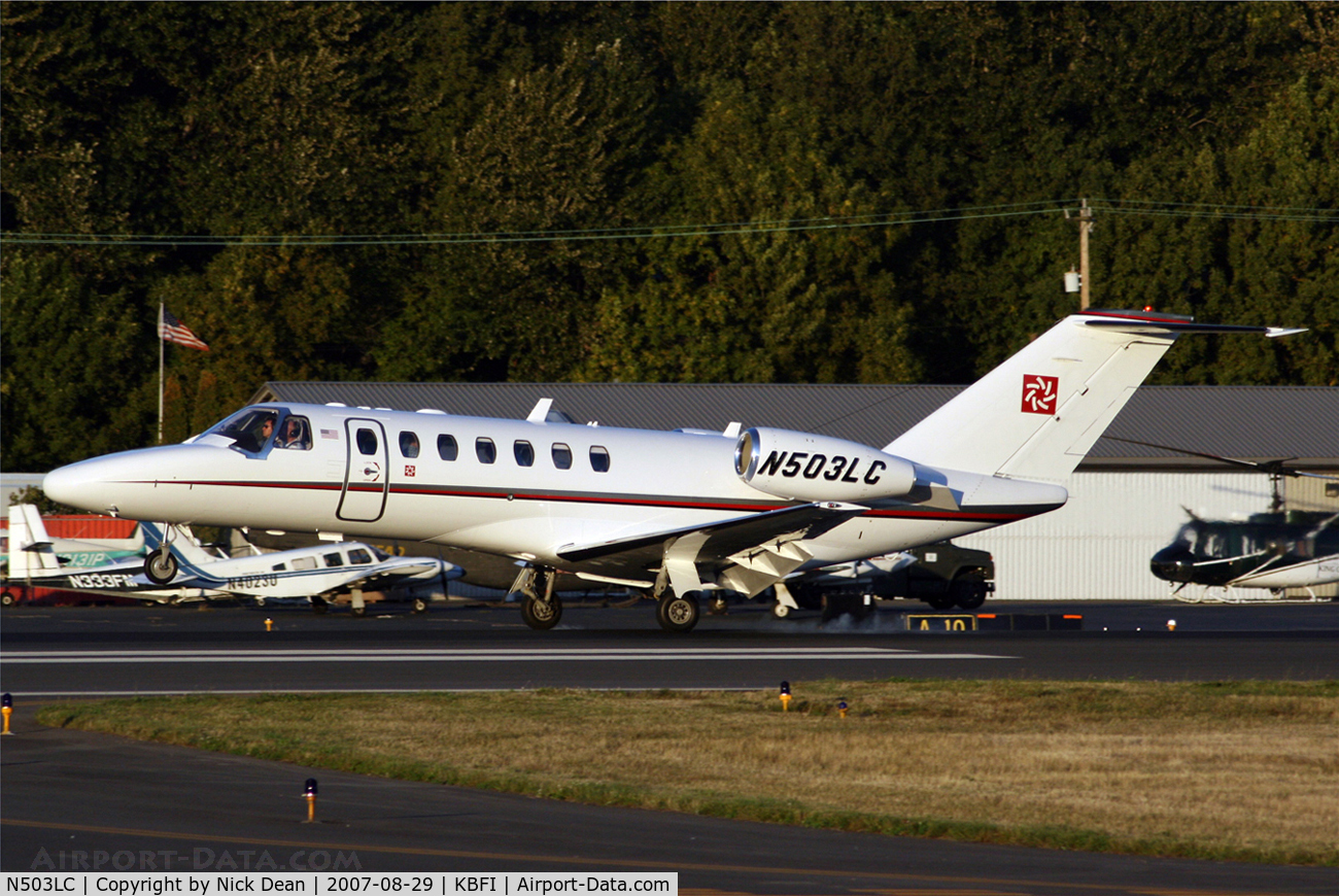 N503LC, 2007 Cessna 525B CitationJet CJ3 C/N 525B0162, KBFI