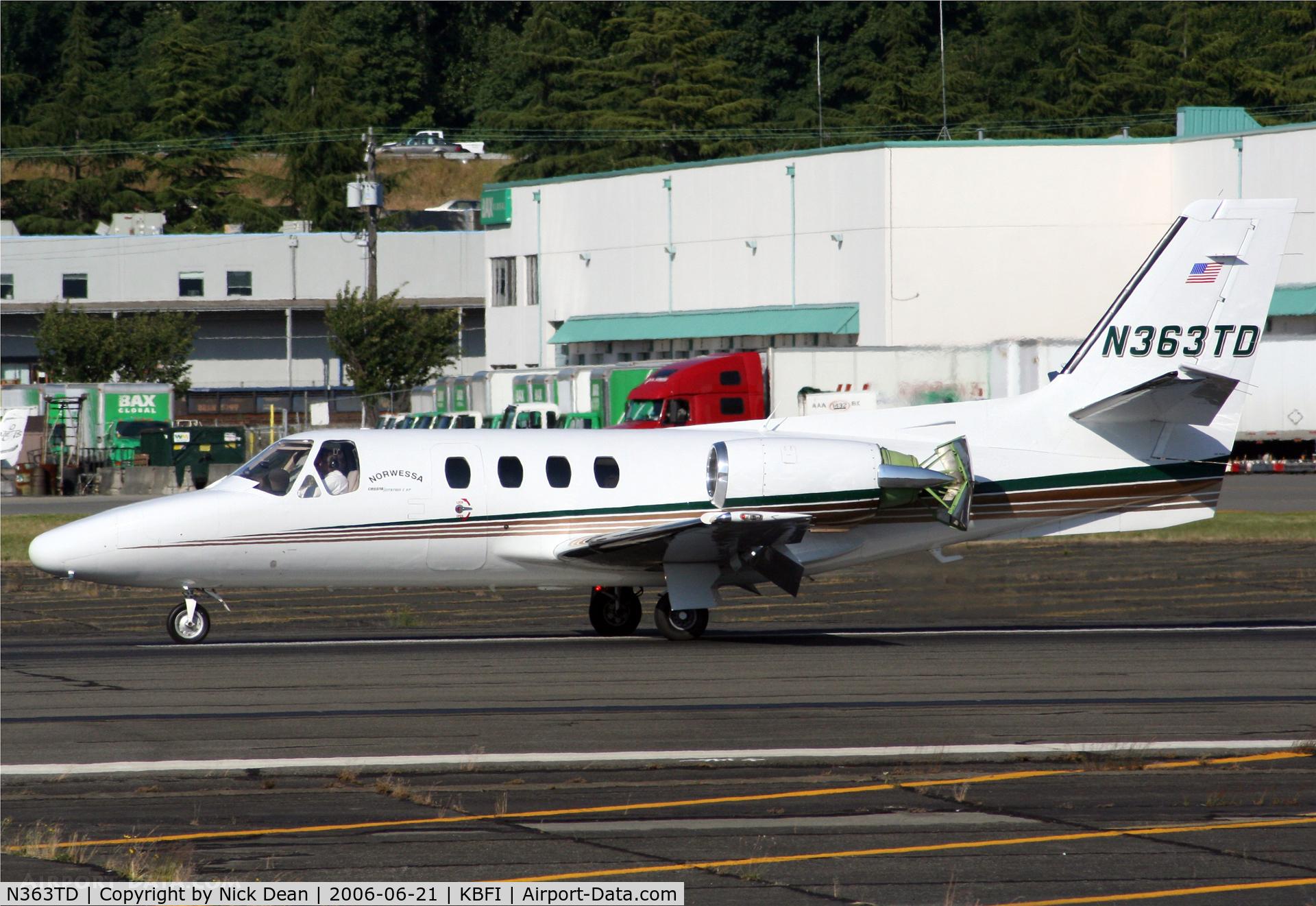 N363TD, 1978 Cessna 501 Citation I/SP C/N 501-0068, KBFI