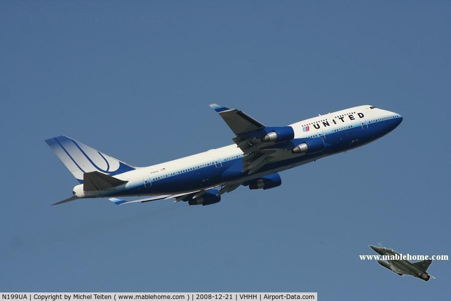 N199UA, 1997 Boeing 747-422 C/N 28717, United Airlines