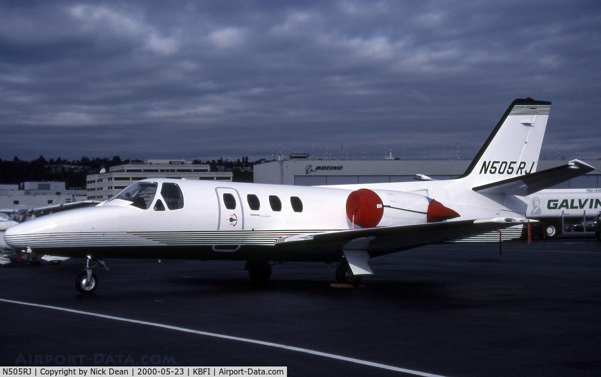 N505RJ, 1977 Cessna 501 C/N 501-0009, KBFI