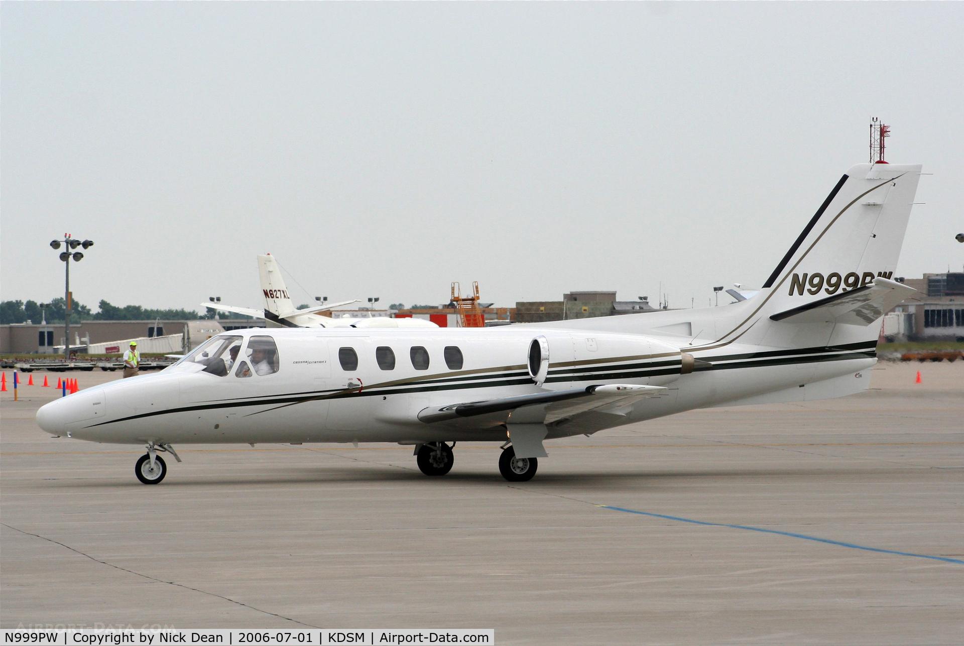 N999PW, 1980 Cessna 501 Citation I/SP C/N 501-0160, KDSM