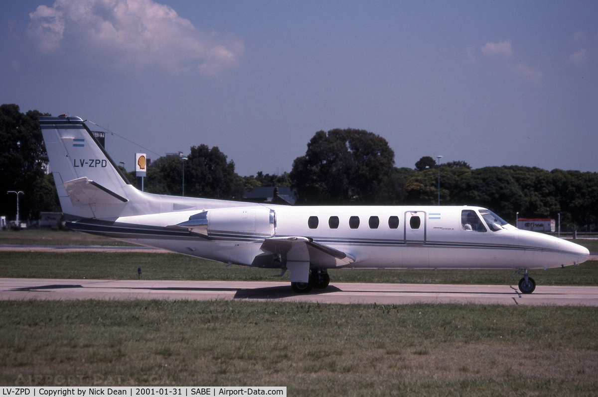 LV-ZPD, 1982 Cessna 550 Citation II C/N 550-0406, SABE