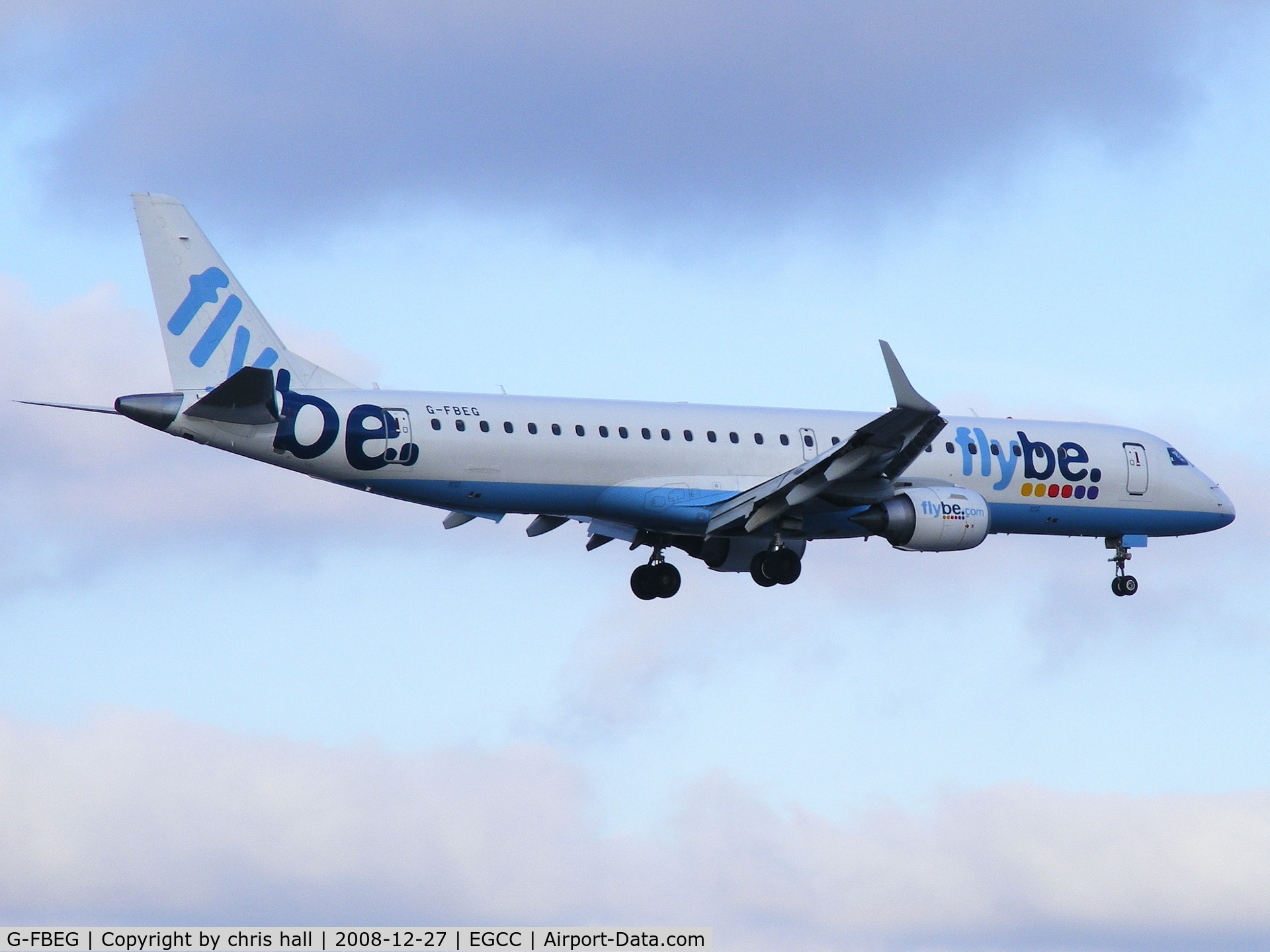 G-FBEG, 2007 Embraer ERJ-190-200LR 195LR C/N 19000120, flybe