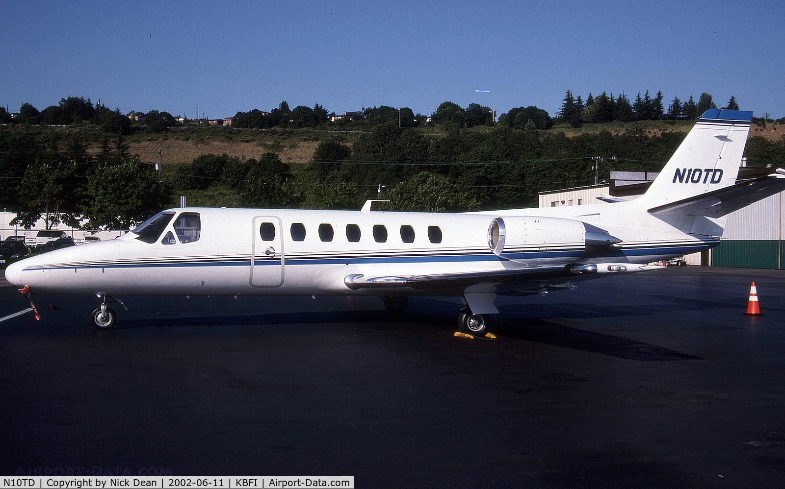 N10TD, 1991 Cessna 560 Citation V C/N 560-0096, KBFI