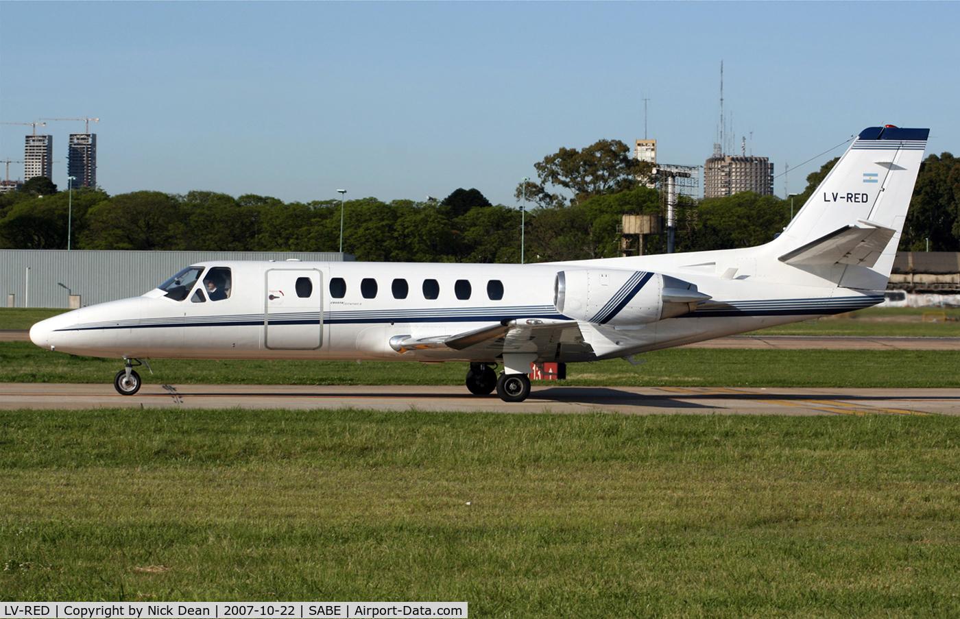 LV-RED, 1991 Cessna 560 Citation V C/N 560-0126, SABE