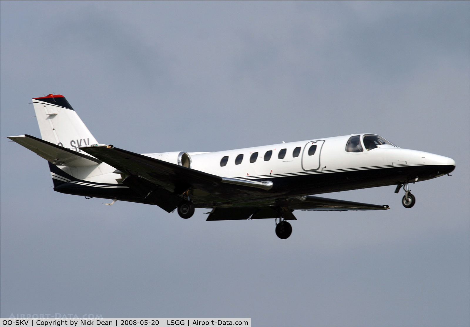 OO-SKV, 1996 Cessna 560 Citation V C/N 560-0153, LSGG (Year of manufacture is actually 1991 not as posted 1996)