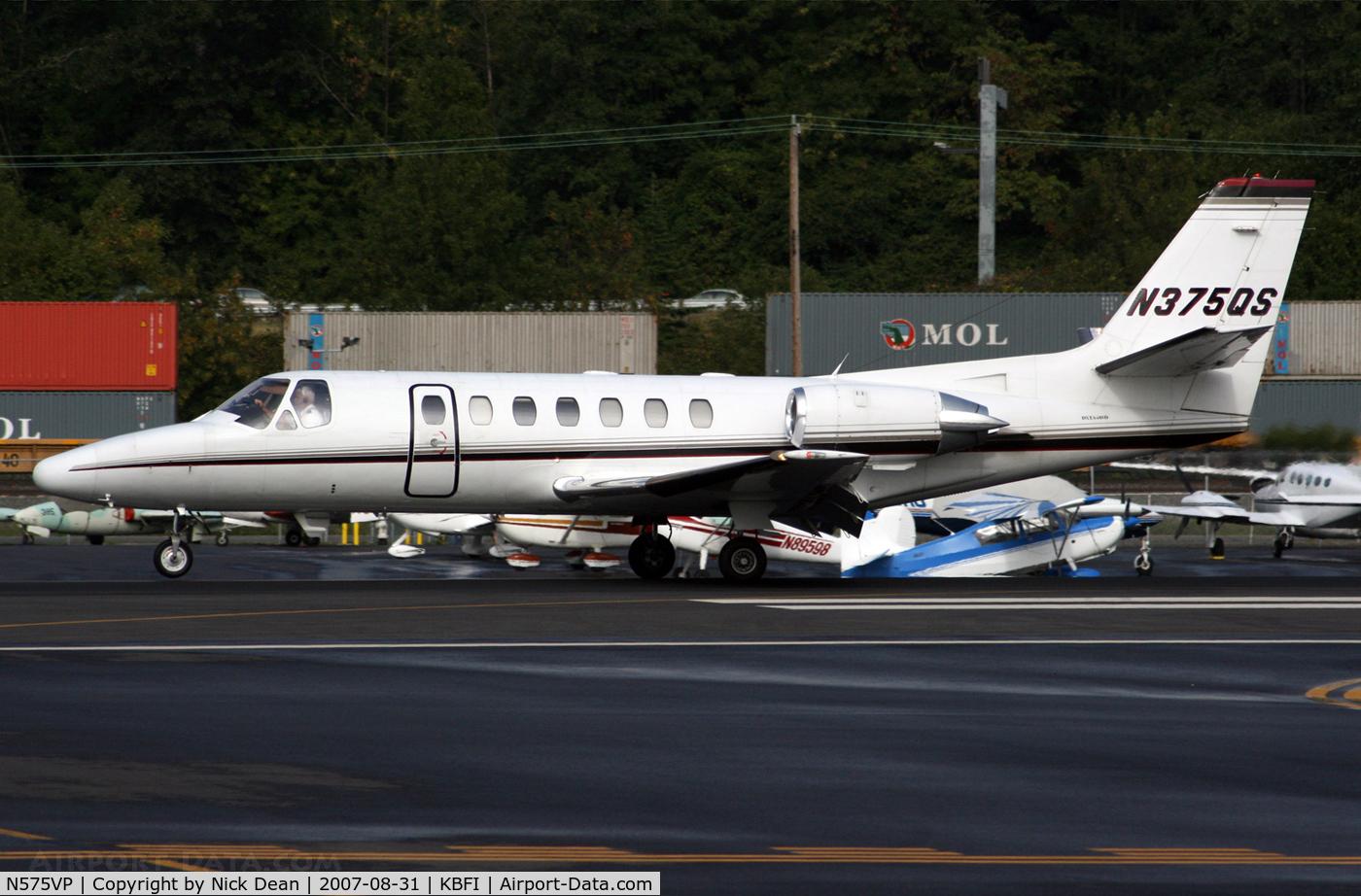 N575VP, 1996 Cessna 560 C/N 560-0375, KBFI (Seen here as N375QS and currently registered N575VP as posted)