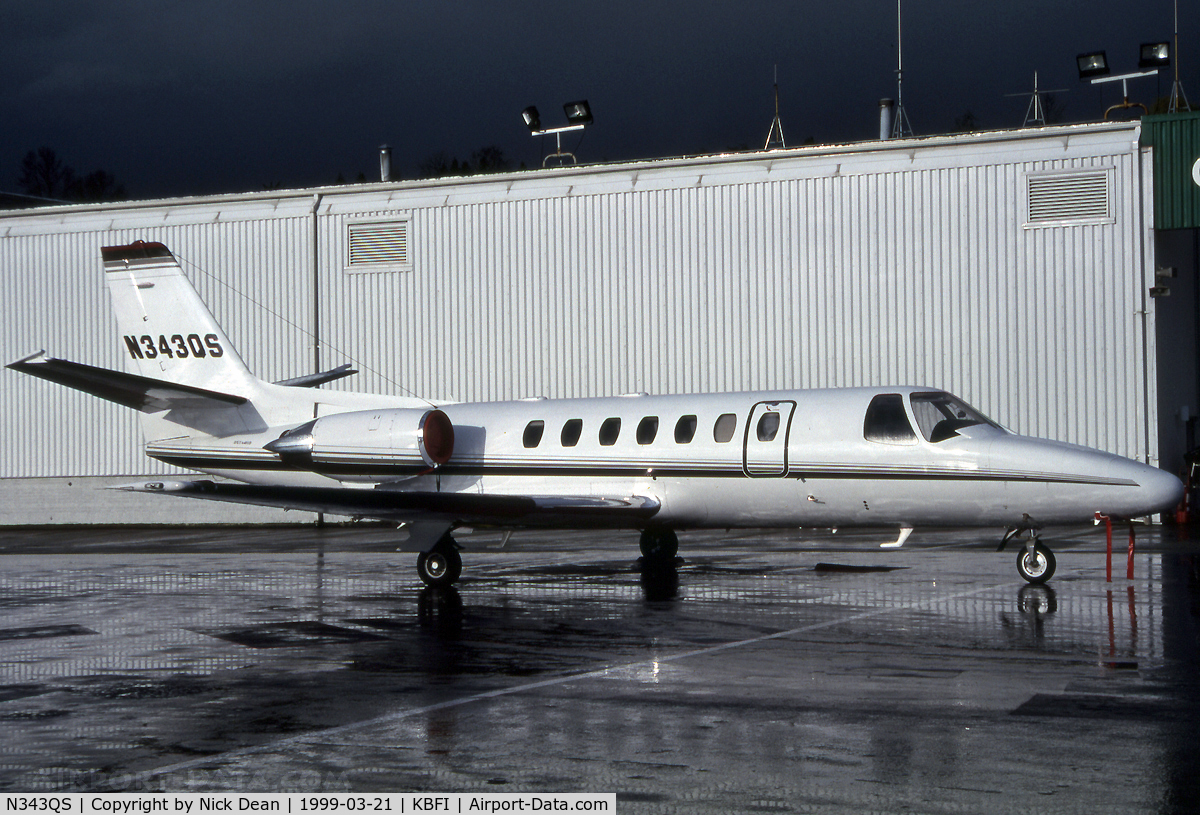 N343QS, 1997 Cessna 560 Citation Ultra C/N 560-0444, KBFI