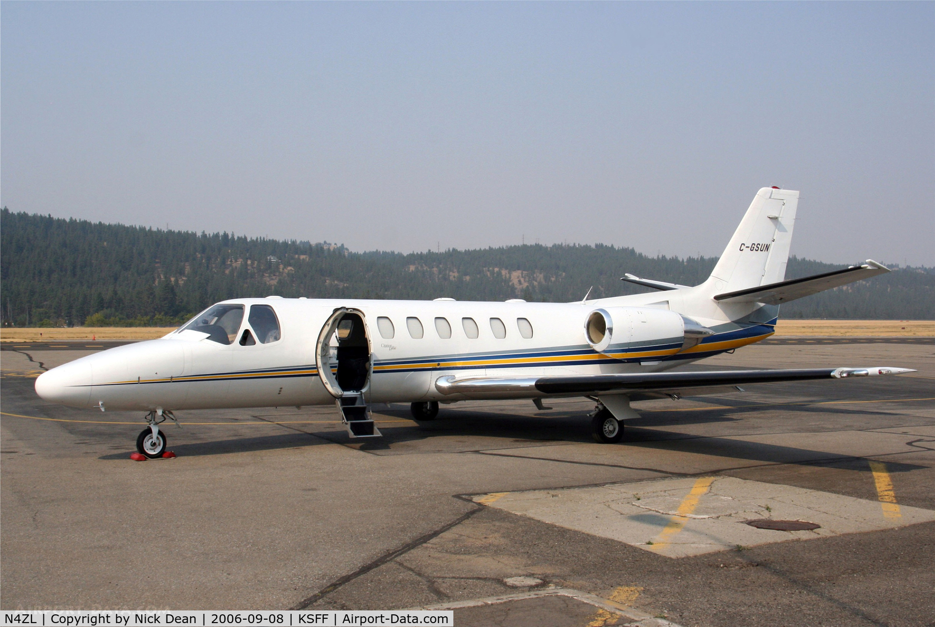 N4ZL, 1997 Cessna 560 Citation Ultra C/N 560-0448, KSFF (Seen here as C-GSUN this airframe is currently registered N4ZL as posted)