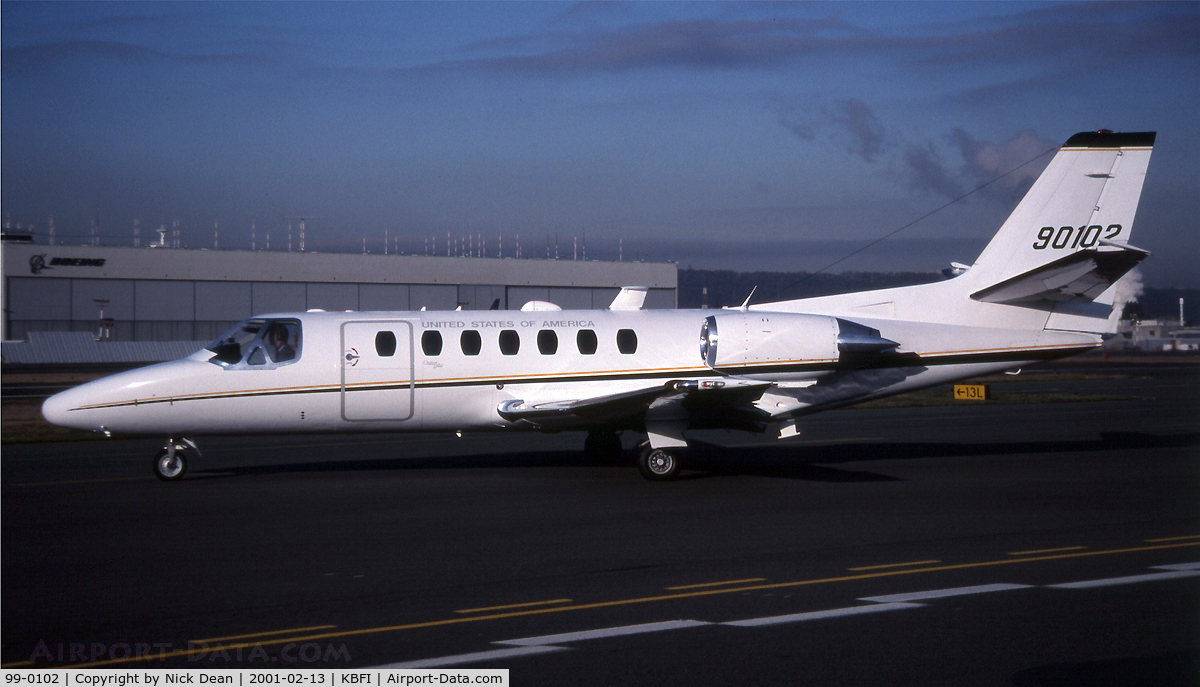 99-0102, 2000 Cessna UC-35A Citation Ultra C/N 560-0538, KBFI (This is the last Citation Ultra produced)