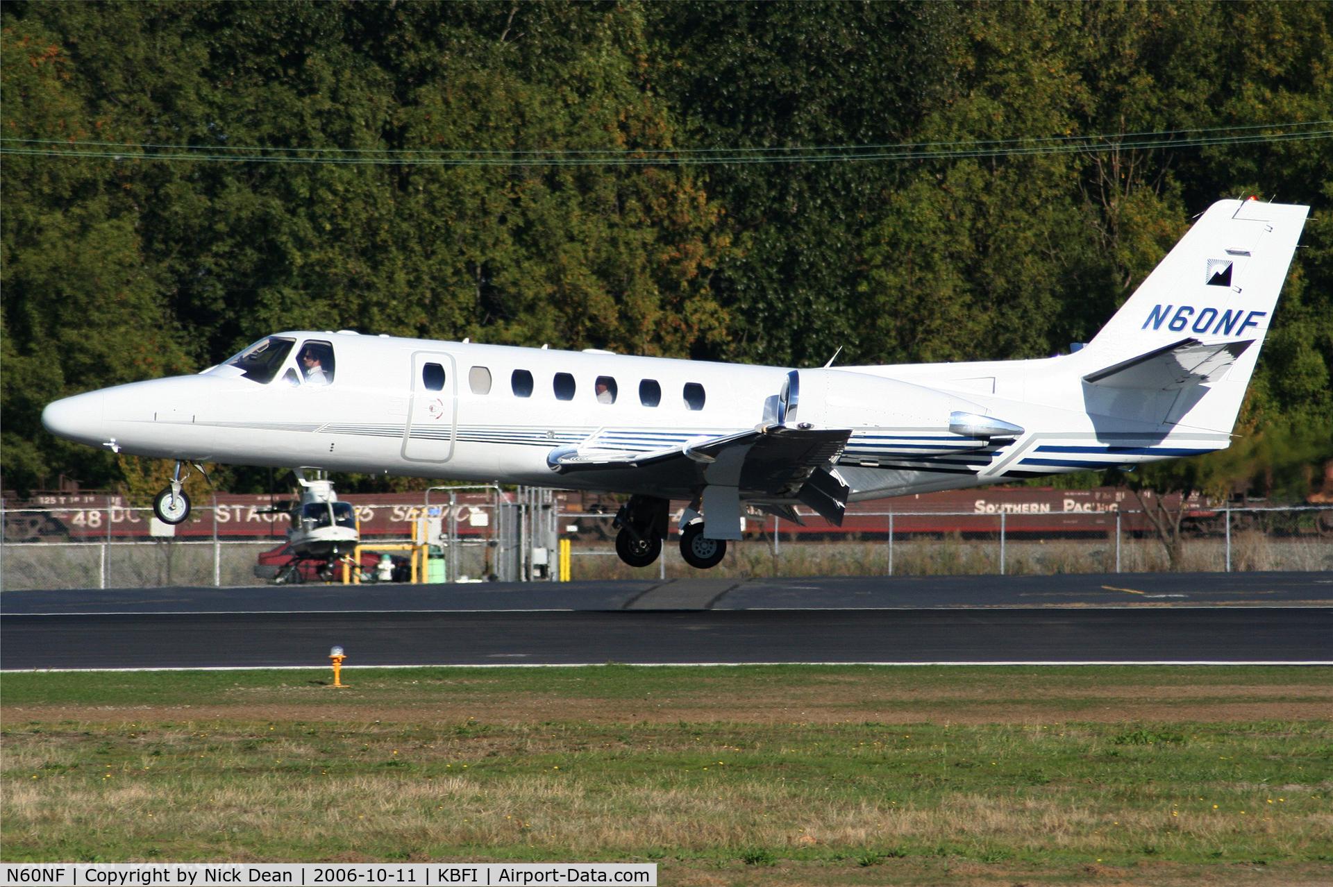 N60NF, 2001 Cessna 560 C/N 560-0562, KBFI