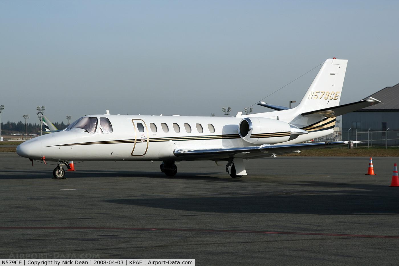 N579CE, 2001 Cessna 560 C/N 560-0579, KPAE