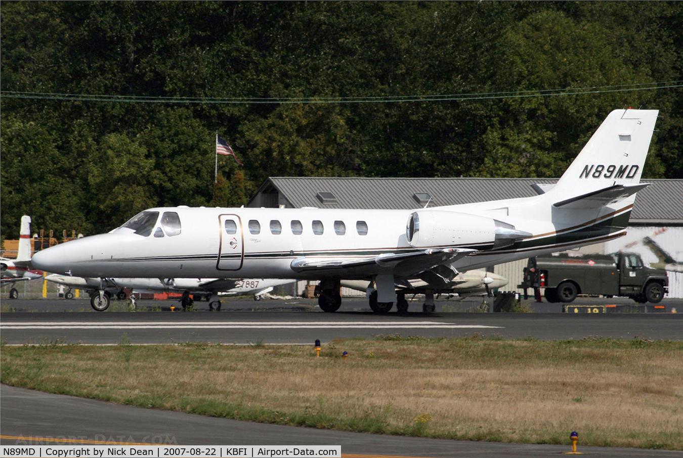 N89MD, 2002 Cessna 560 C/N 560-0612, KBFI