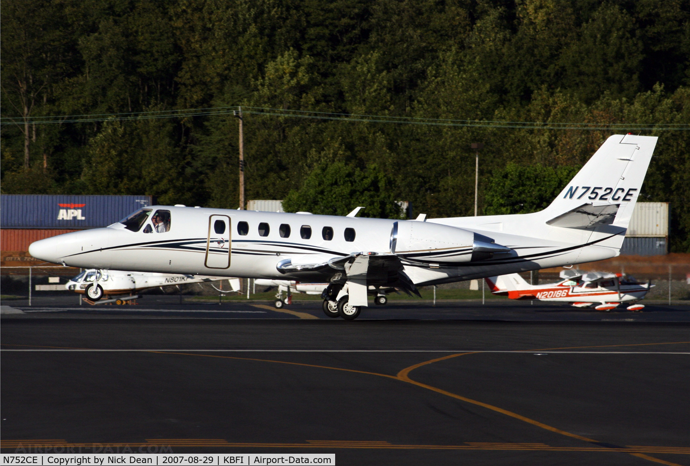N752CE, 2007 Cessna 560 C/N 560-0752, KBFI
