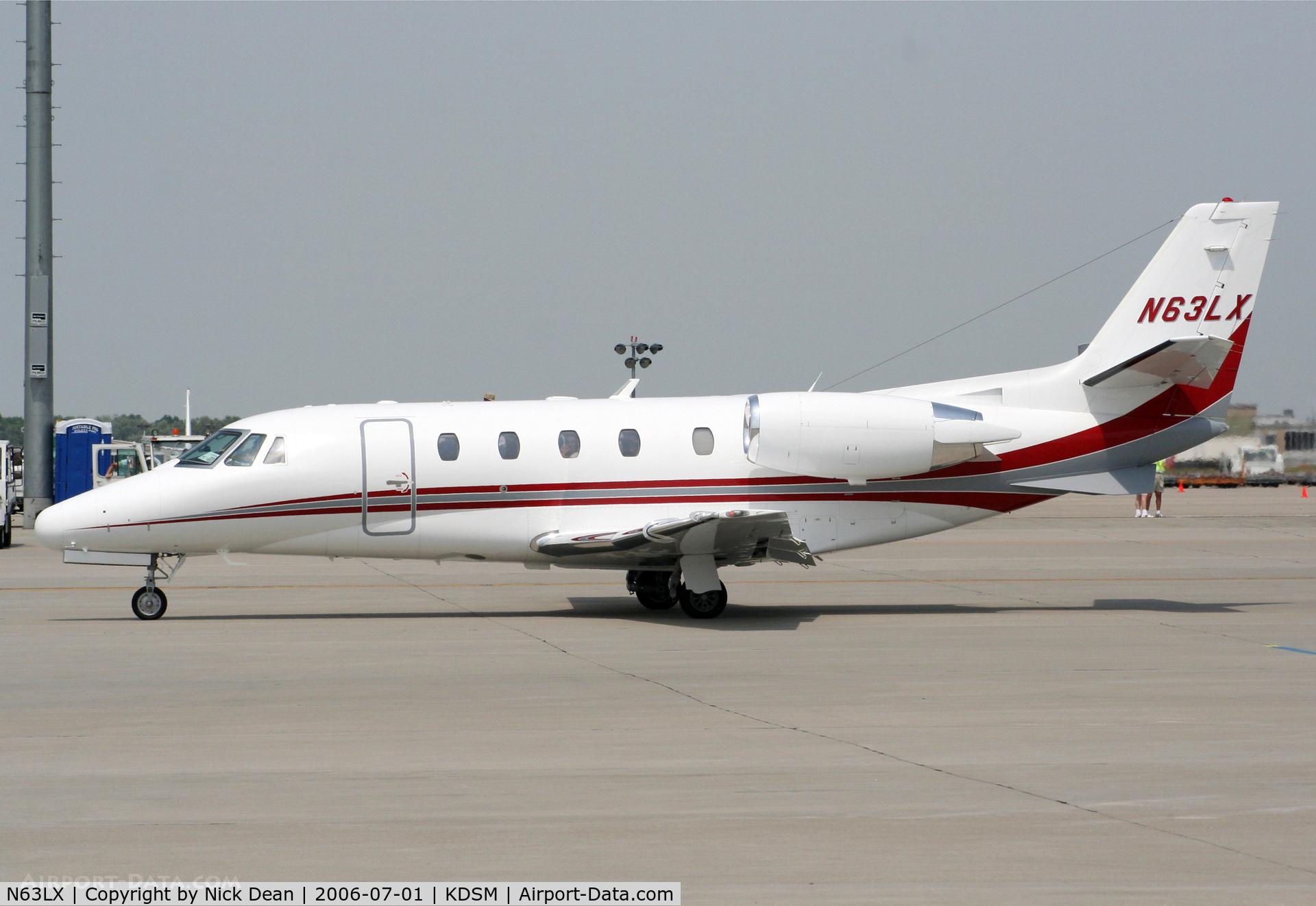 N63LX, 2001 Cessna 560 Citation Excel C/N 560-5163, KDSM