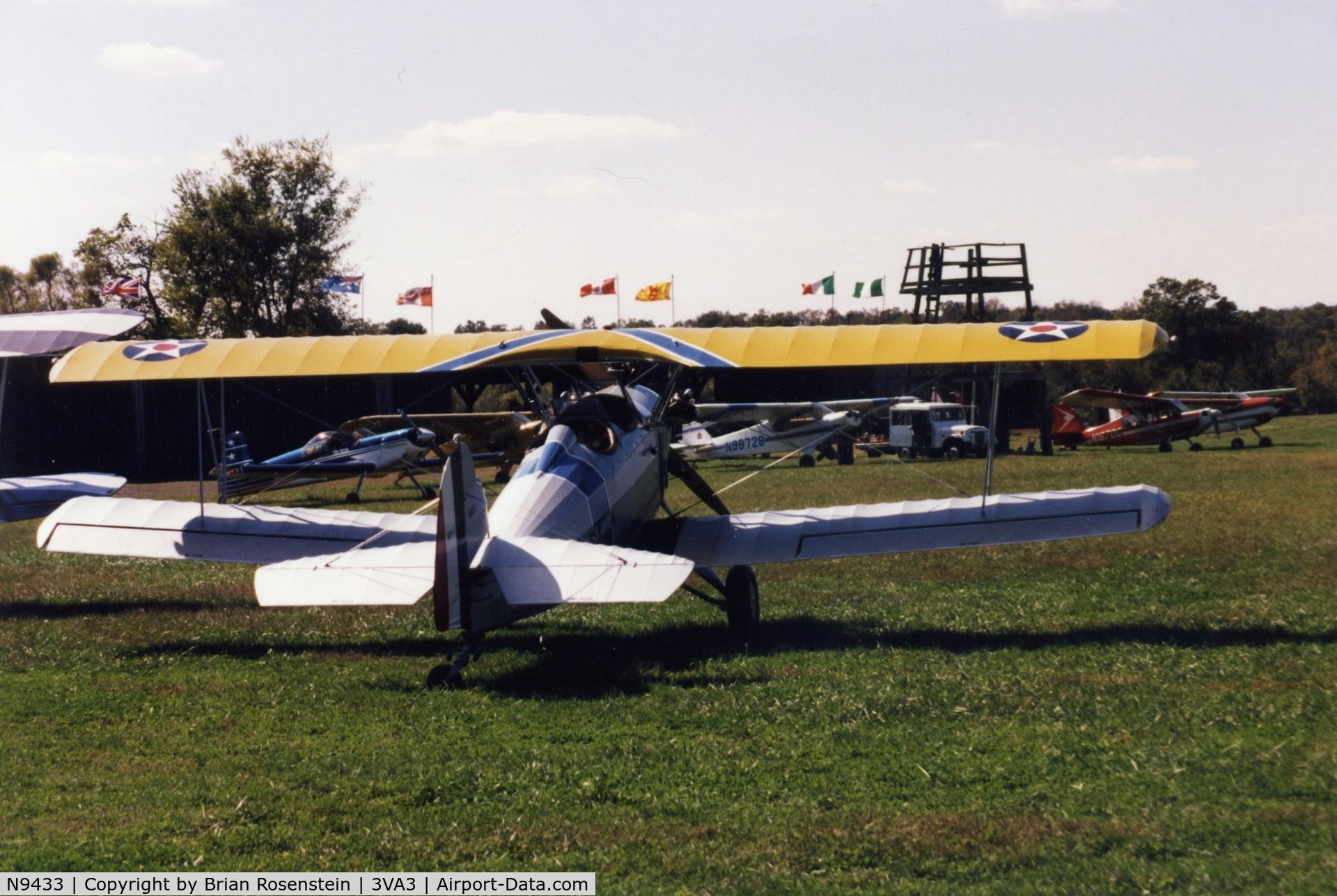 N9433, 1929 Fleet Model 7 C/N 81, at the flying circus in bealeton va