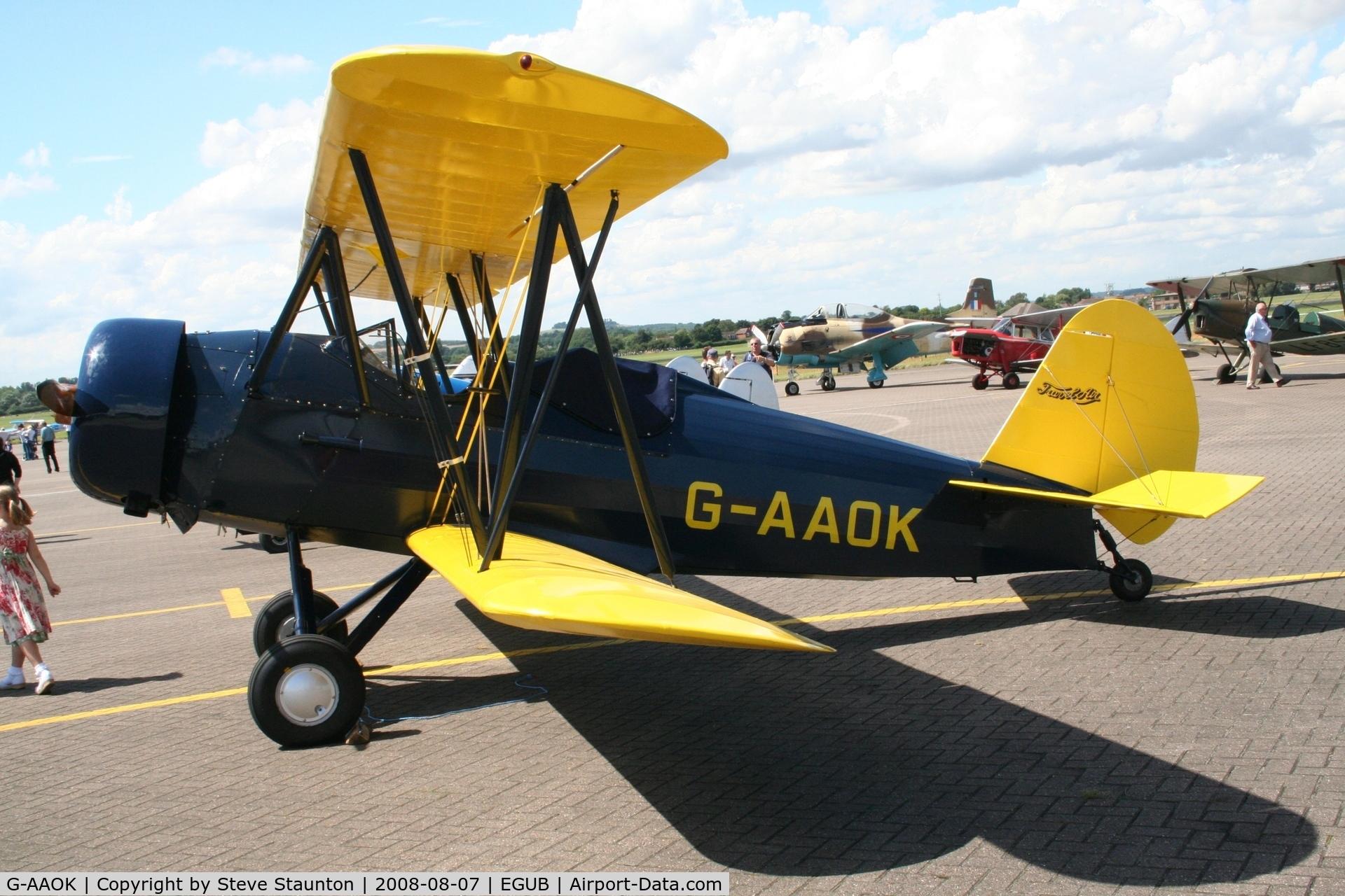 G-AAOK, 1929 Curtiss-Wright Travel Air 12Q C/N 2026, RAF Benson Families Day, RAF Benson, Oxfordshire, England - August 2008