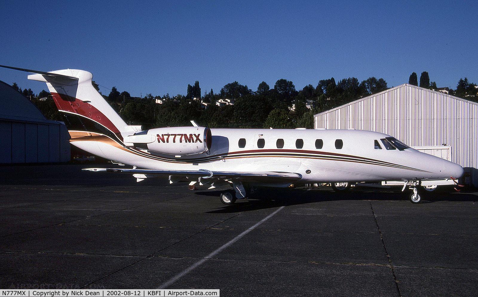 N777MX, 1984 Cessna 650 C/N 650-0051, KBFI