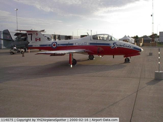 114075, Canadair CT-114 Tutor C/N 1075, SNOWBIRD'S number 7 tudor aircraft at the CFB Shearwater Airshow