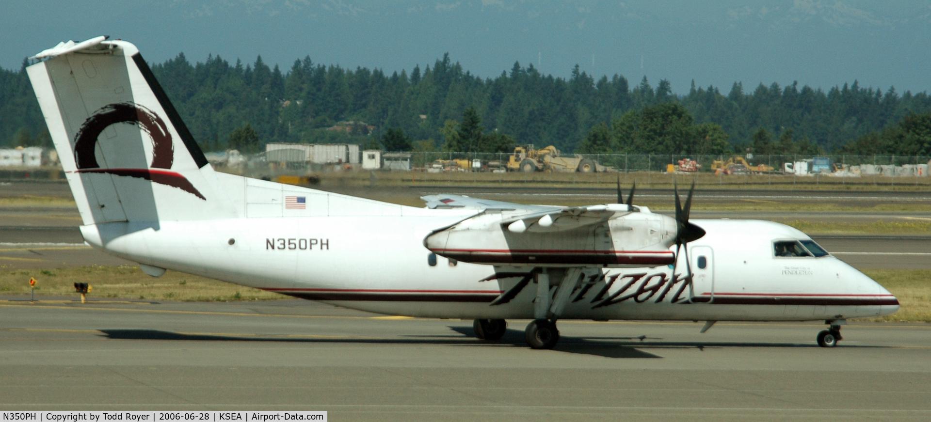 N350PH, 1997 De Havilland Canada DHC-8-202 Dash 8 C/N 488, Taxi for departure