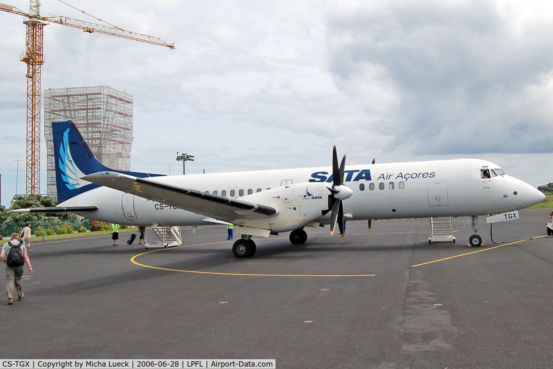 CS-TGX, 1990 British Aerospace ATP C/N 2025, At Flores