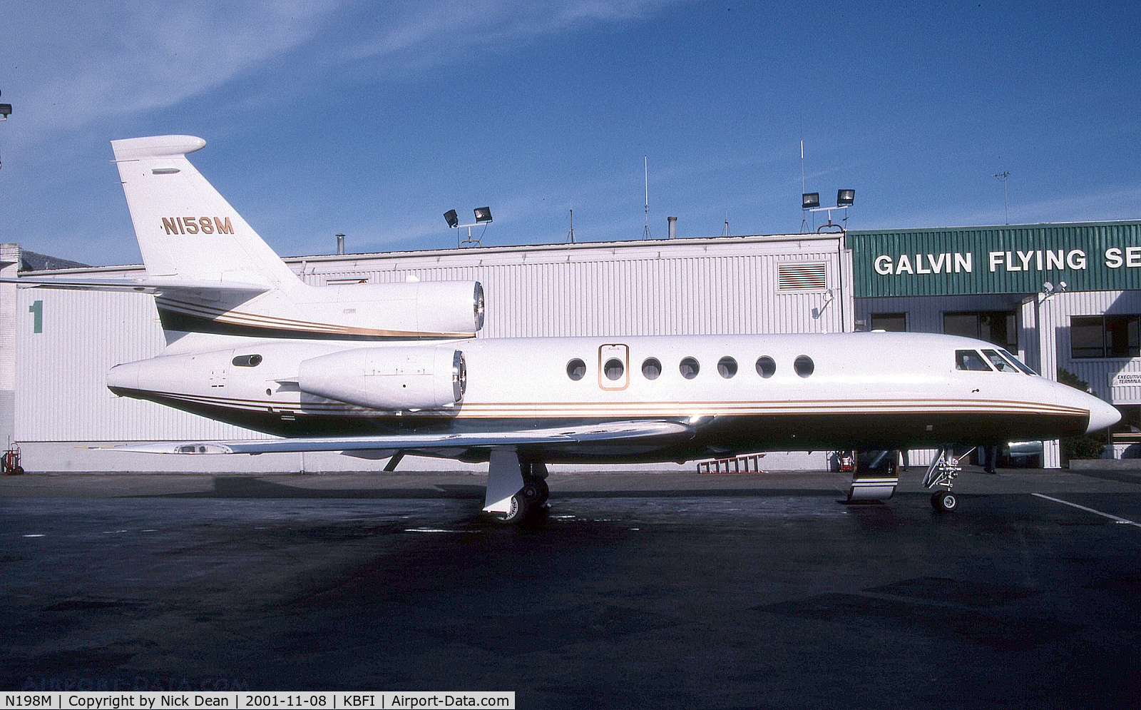 N198M, 1998 Dassault Mystere Falcon 50 C/N 273, Seen here as N158M this airframe is currently registered N198M as posted