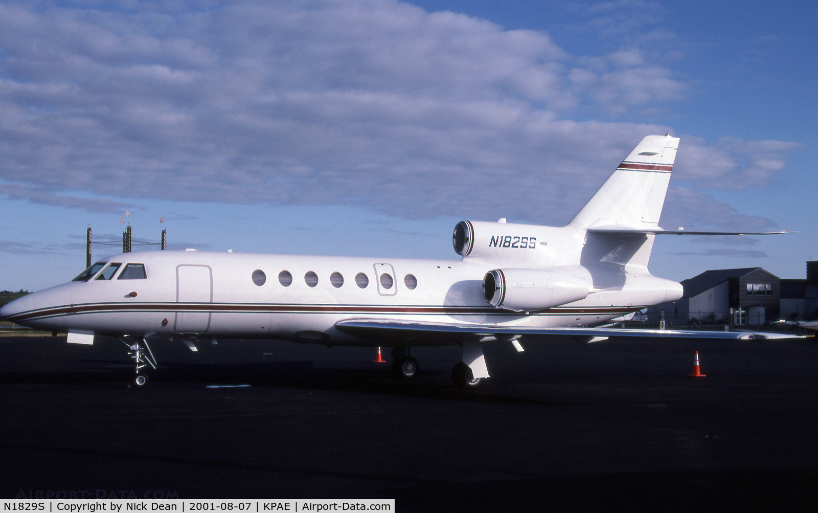 N1829S, 1999 Dassault Falcon 50EX C/N 280, The Stevens Group were regular visitors to KPAE a few years ago