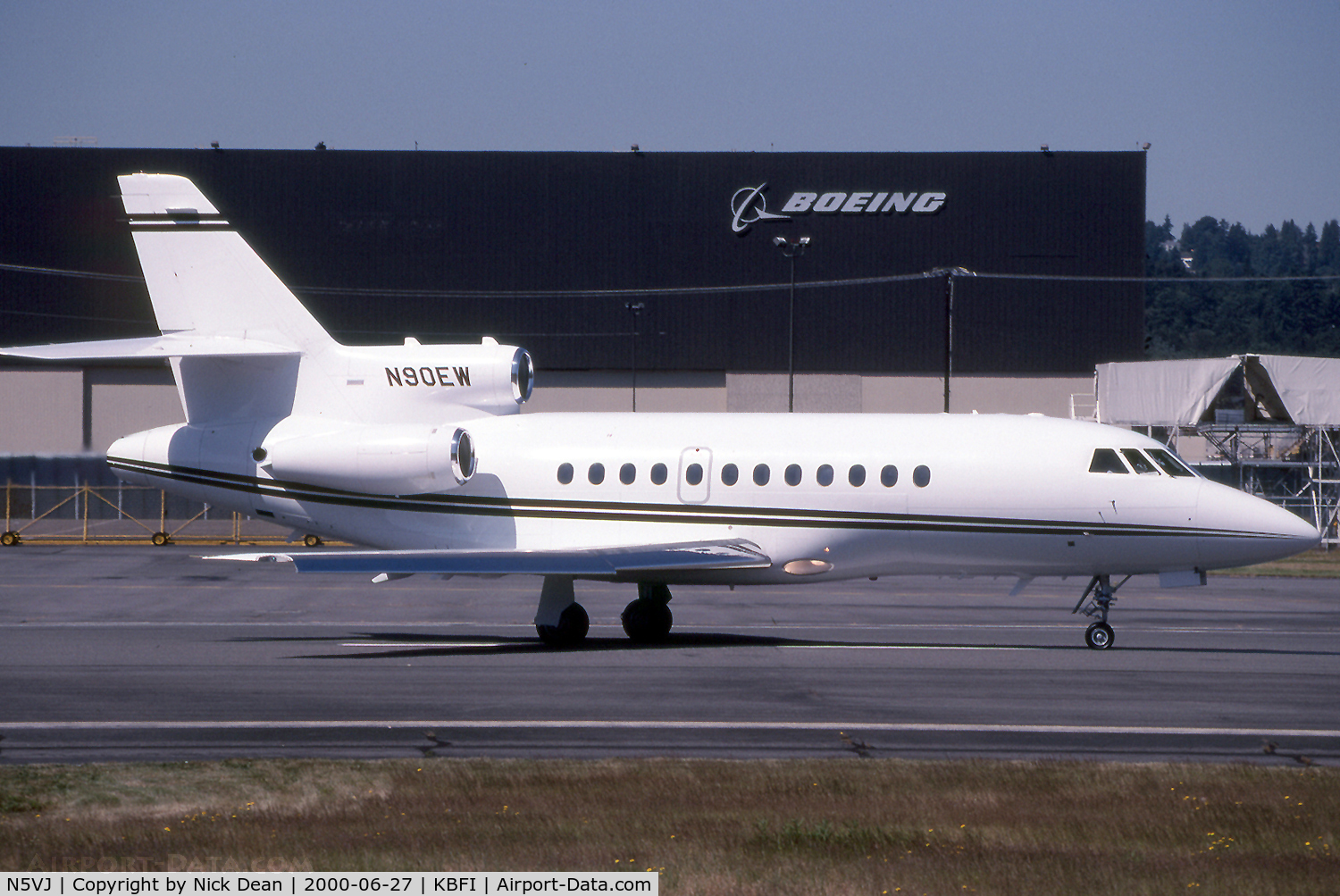 N5VJ, 1987 Dassault-Breguet Falcon (Mystere) 900 C/N 27, Seen here as N90EW this airframe is currently registered N5VJ as posted