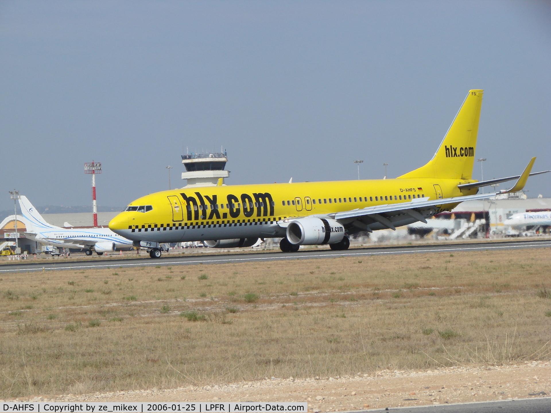 D-AHFS, 2000 Boeing 737-8K5 C/N 28623, b-737 at Faro airport