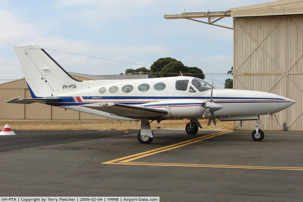 VH-PTA, 1979 Cessna 414A Chancellor C/N 414A0490, Cessna 414A at Moorabbin