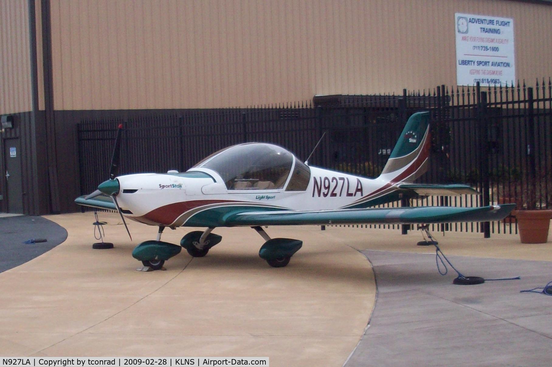 N927LA, 2007 Evektor-Aerotechnik SPORTSTAR PLUS C/N 20070927, at Lancaster