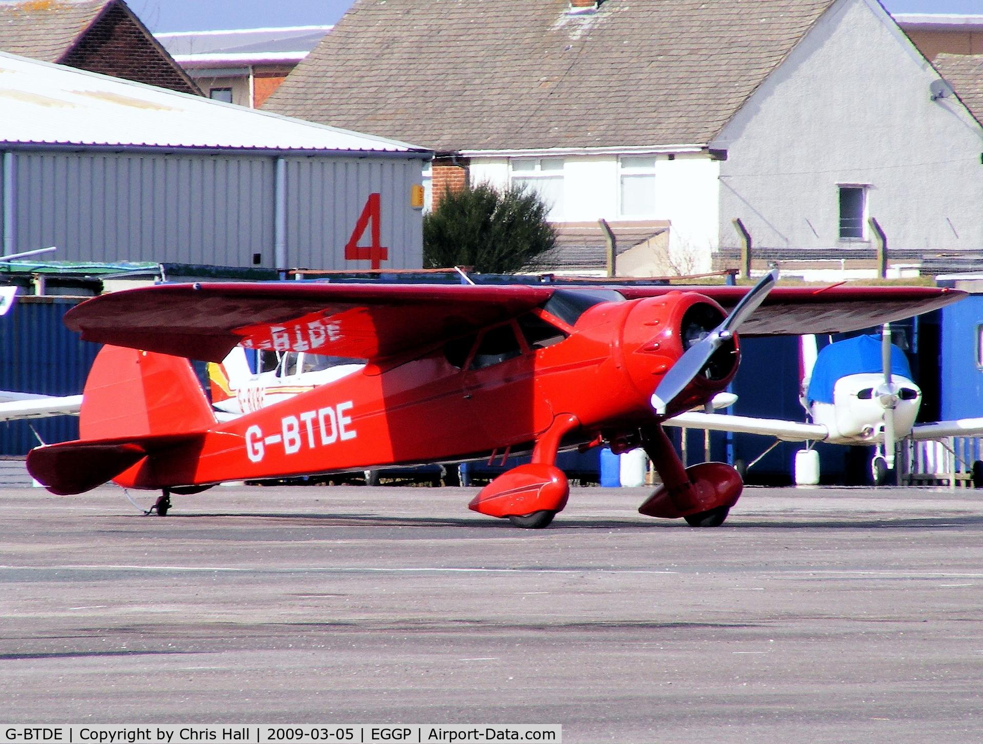 G-BTDE, 1940 Cessna C-165 Airmaster C/N 551, Previous ID: N21911