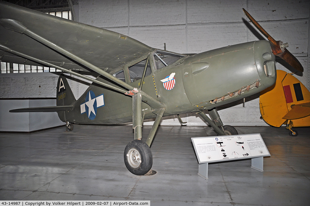 43-14987, Fairchild UC-61K Argus III (24R-46A) C/N 951, at Museum Brussels, Belgium