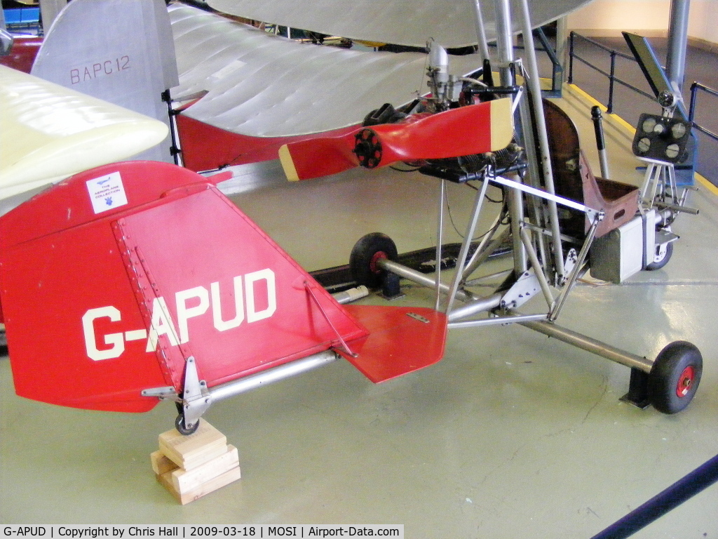 G-APUD, Bensen B-7MC Gyrocopter C/N 01, at the Museum of Science and Industry