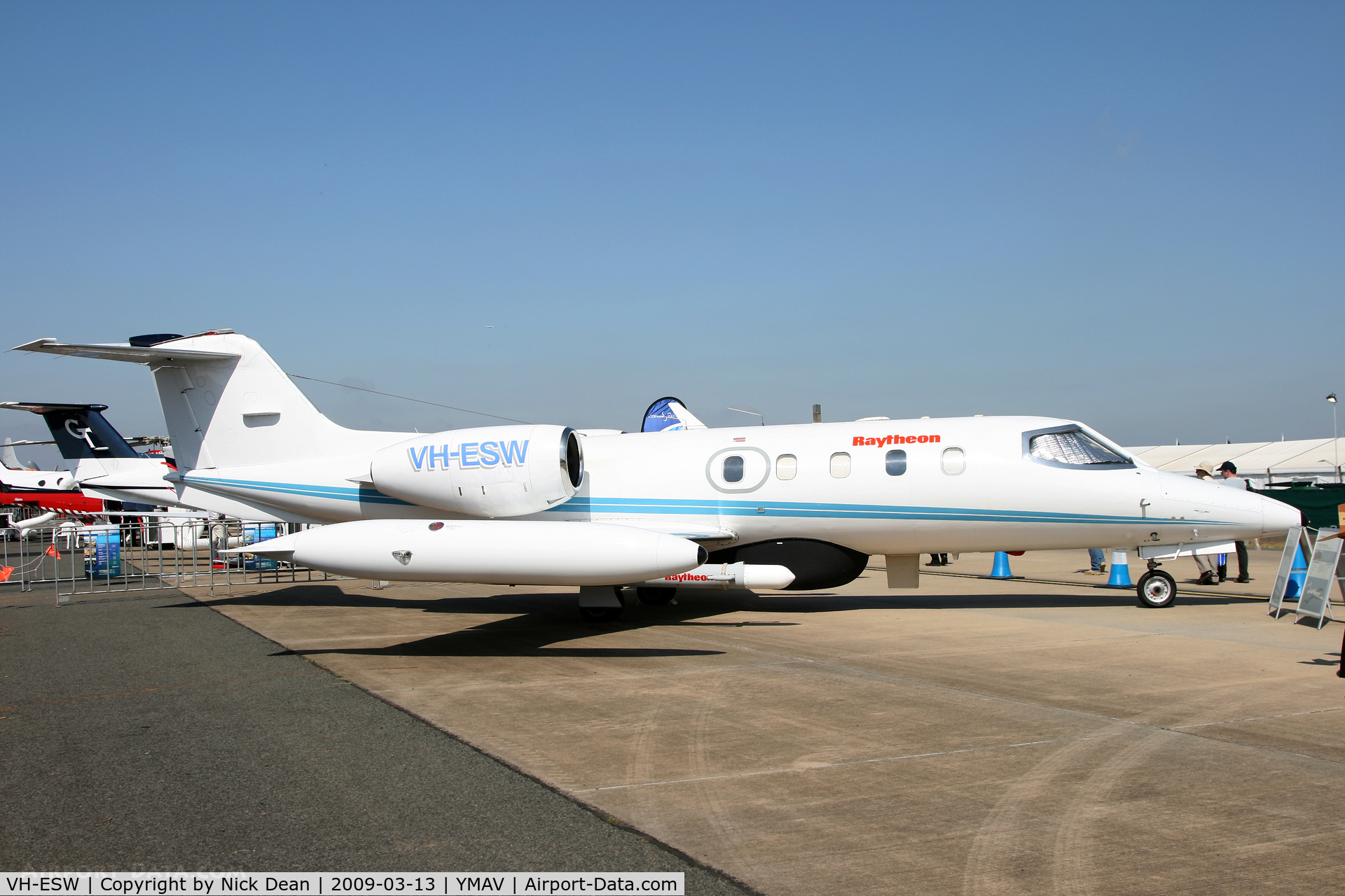VH-ESW, 1977 Gates Learjet 35A C/N 071, YMAV
