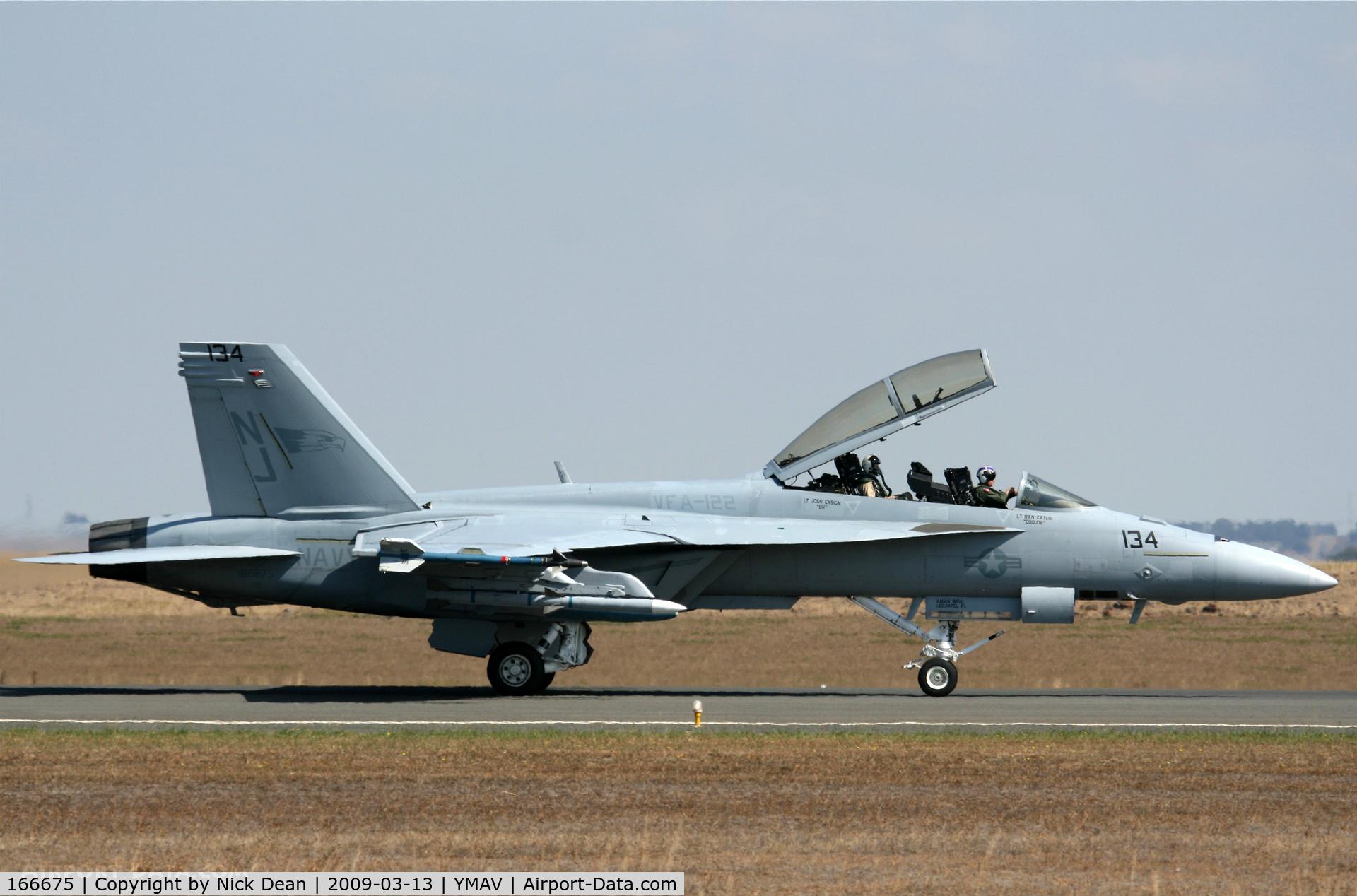166675, Boeing F/A-18F Super Hornet C/N F153, YMAV (2009 Avalon Air Show)