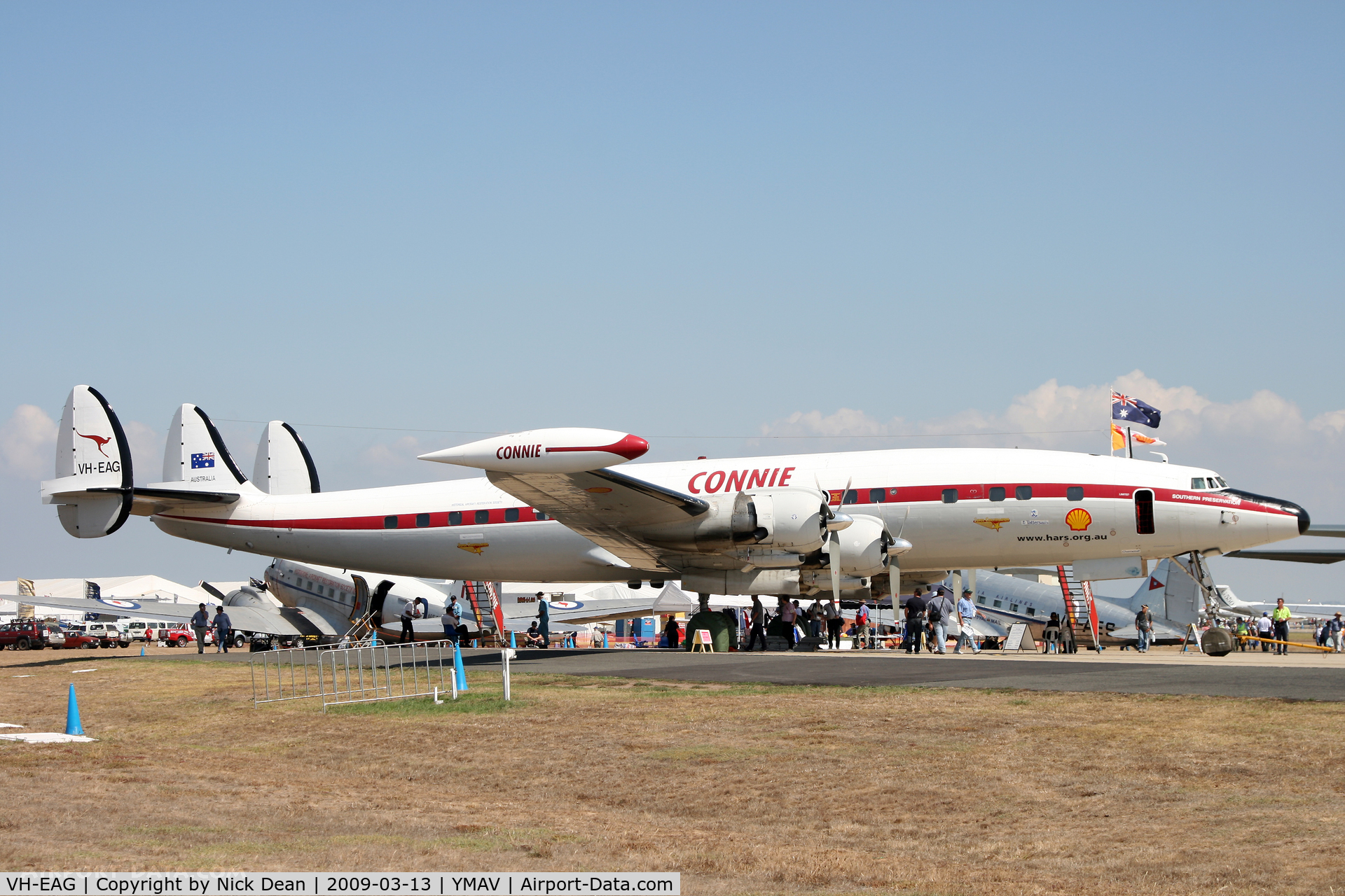 VH-EAG, 1954 Lockheed C-121C Super Constellation (L-1049F) C/N 1049F-4176, YMAV (The HARS Connie based at Wollongong NSW)