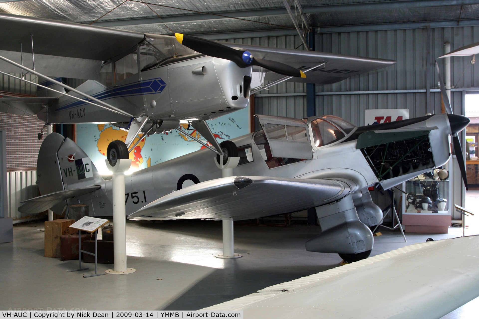 VH-AUC, 1946 Percival P-28 Proctor 1 C/N P-6194, YMMB (Australian National Aviation Museum)