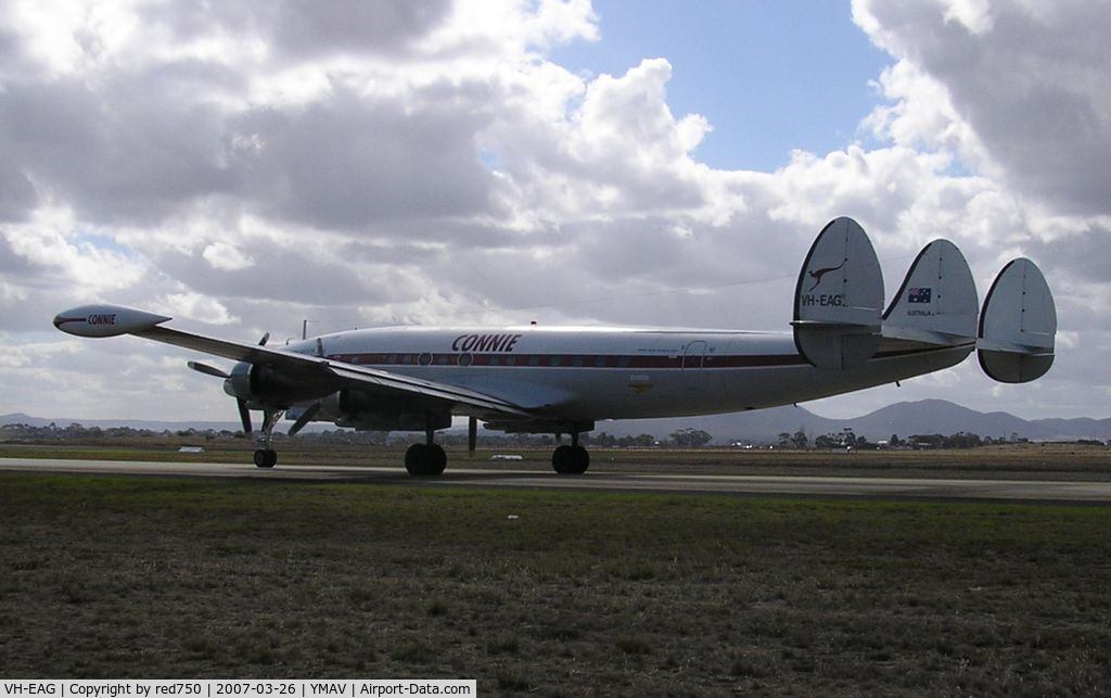 VH-EAG, 1954 Lockheed C-121C Super Constellation (L-1049F) C/N 1049F-4176, Constellation VH-EAG