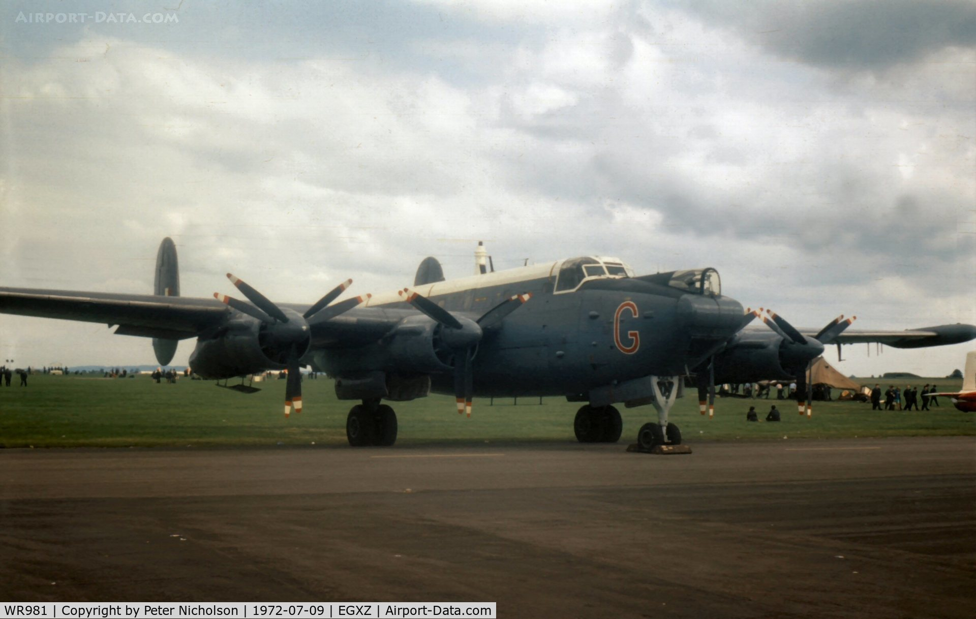 WR981, 1957 Avro 716 Shackleton MR.3/3 C/N Not found WR981, Shackleton MR.3/3 in the static display at the 1972 Topcliffe Open Day.