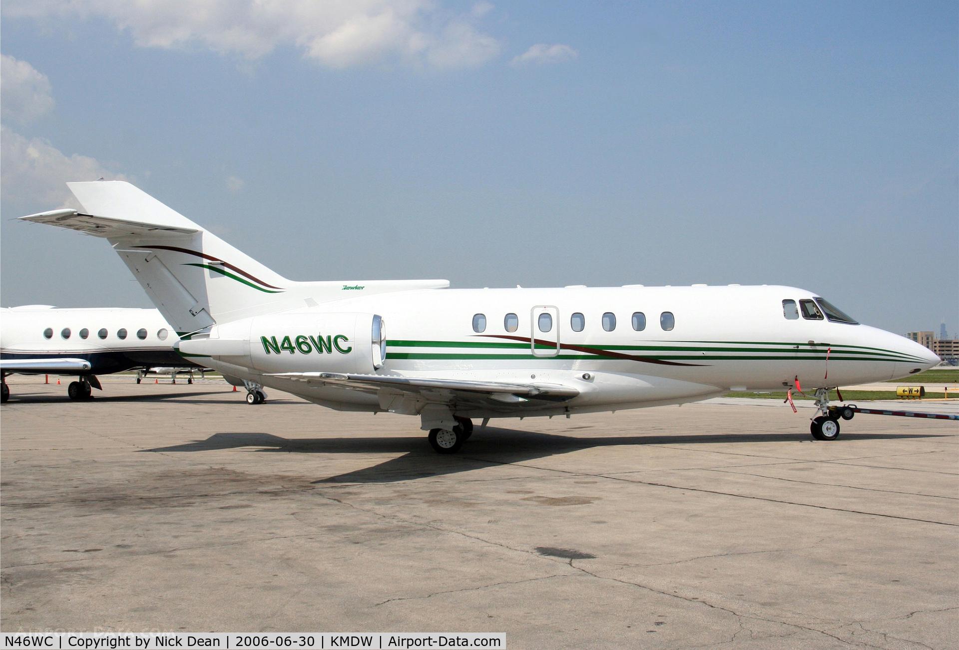N46WC, 1992 British Aerospace BAe.125-1000B C/N 259028, KMDW